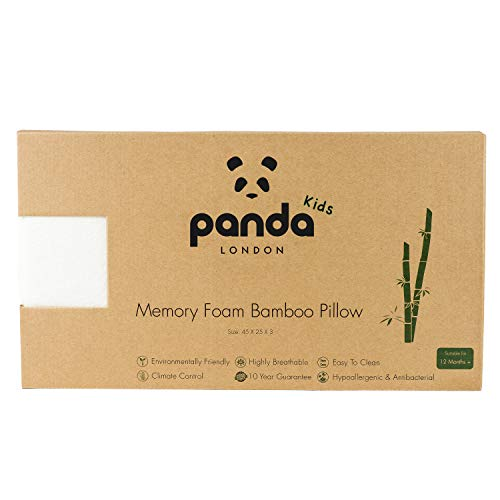 Panda Kids Luxuriöses Memory-Schaum Bambuskissen (Kleinkind)